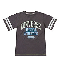 Converse® Boys' 8-20 Short Sleeve Grey V-Neck Tee
