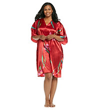 Winlar® Short Caftan - Red Floral