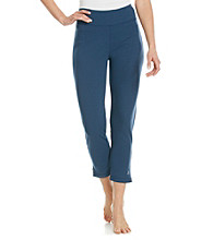 KN Karen Neuburger Knit Ankle Zip Pants - Navy