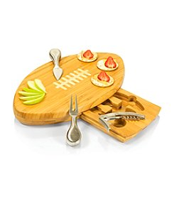 Picnic Time® Quarterback Football Shaped Bamboo Cutting Board and Tool Set