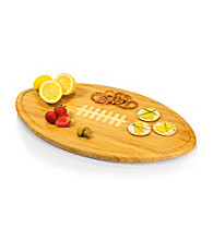 Picnic Time® Kickoff Wood Football Themed Platter or Serving Tray