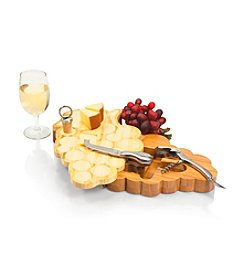 Picnic Time® Grape Design  Wood Cutting Board with Tool Set