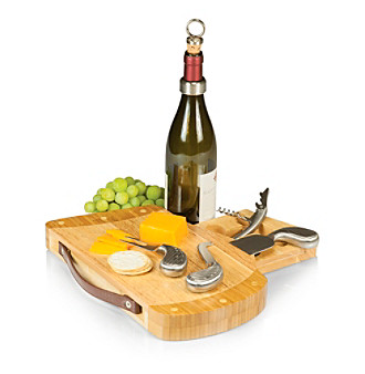 Picnic Time Caddy Golf Bag Cutting Board with Cheese Tools