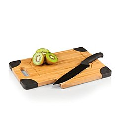 Picnic Time® Culina Natural Wood Cutting Board with Carving Knife