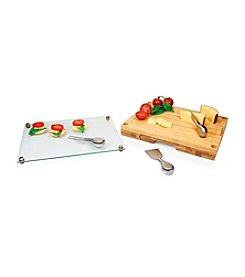 Picnic Time® Concerto Bamboo Wood Cutting Board with Stainless Tools