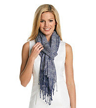 AK Anne Klein® Marine Pleated Stripe Wrap