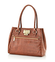 AK Anne Klein® Saddle Alligator Alley Satchel