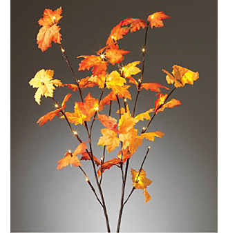 "Gerson 39"" Battery Operated Maple Leaf LED Branch"
