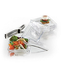 LivingQuarters Tastings 12-pc. Mini Plates and Forks
