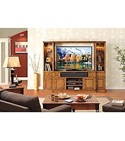 Whalen Pinecrest Wall Unit Entertainment Center Set