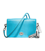 COACH LEGACY PERFORATED LEATHER PENELOPE SHOULDER PURSE