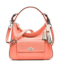 COACH LEGACY PERFORATED LEATHER COURTENAY HOBO