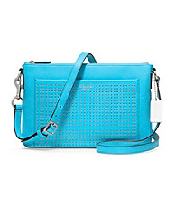 COACH LEGACY PERFORATED LEATHER EAST/WEST SWINGPACK
