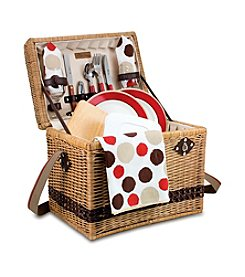 Picnic Time® Yellowstone - Moka Willow Picnic Basket