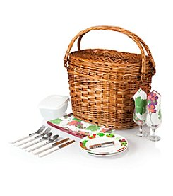 Picnic Time® Romance Chestnut Brown Willow Picnic Basket