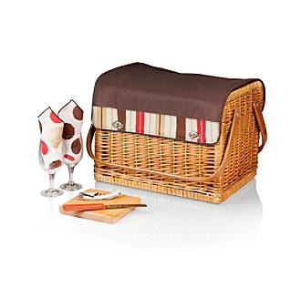 Picnic Time® Kabrio - Moka Willow Wine Basket