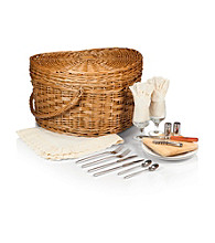 Picnic Time® Willow Heart Shapped Picnic Basket with Antique White Lining