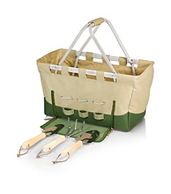 Picnic Time® Garden Metro Tan ans Olive Green Lightweight Collapsible Basket