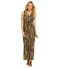 Notations® Allover Snakeskin Print Maxi Dress