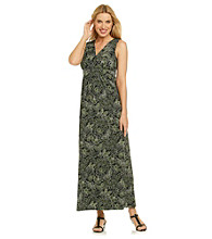 Notations® Butterfly Print Maxi Dress
