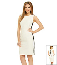 Calvin Klein Sheath Dress With Trim Detail