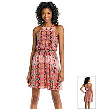 Jessica Simpson Printed Halter Dress