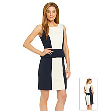 Tahari ASL® Colorblock Peplum Dress
