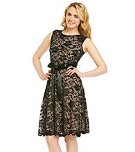 Marina Large Floral Lace Cocktail Dress