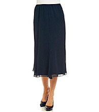 Alex Evenings Chiffon T-Length Skirt
