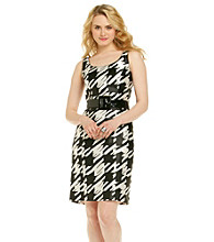 Tahari ASL® Houndstooth Sheath Dress