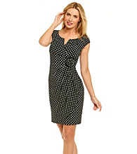 Adrianna Papell® Rosette Polka Dot Dress