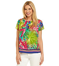 Rafaella® Tropical Printed Top