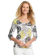 Laura Ashley® Lemongrass Damask Sublimation Tee