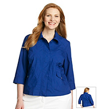 Laura Ashley® Plus Size Cinched Back Jacket