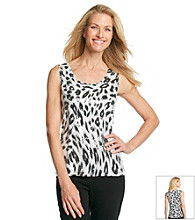 Laura Ashley® Sequin Animal Print Tank