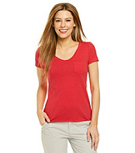 Marc New York Performance Raw Edge V-Neck Tee