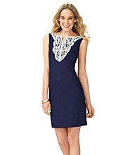 AGB® Lace Trim Sheath Dress
