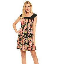 Madison Leigh® Floral Panel Knit Dress