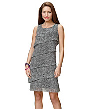 Jessica Howard® Dot Printed Tiered Dress