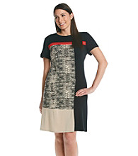 Calvin Klein Plus Size Colorblock T-Shirt Dress