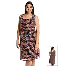Black Rainn™ Plus Size Printed Woven Dress