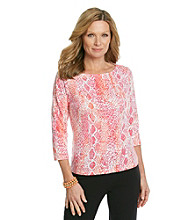 Ruby Rd.® Petites' Print Knit Top