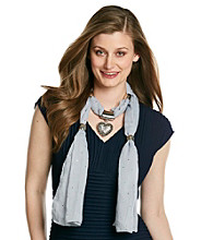 Basha Dot Heart Jewelry Scarf