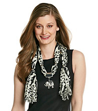 Basha Animal Print Elephant Jewelry Scarf