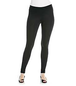 HUE® Black Ponte Leggings
