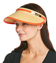 Calvin Klein Pop of Color Straw Hat Visor
