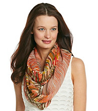 Basha Orange Oversized Abstract Neckwrap