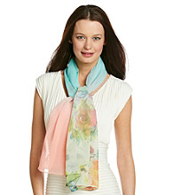 Basha Abstract Floral Ombre Oblong Scarf