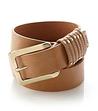 Calvin Klein Jeans® Multiple Keeper Leather Belt