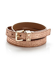 MICHAEL Michael Kors® Luggage Metallic Lizard Belt